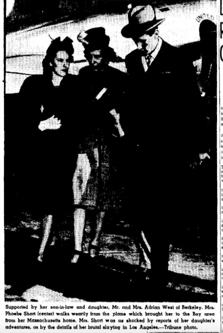 BETH'S SISTER AND BROTHER-IN-LAW, MR.AND MRS. ADRIAN WEST ACCOMPANY HER MOTHER, PHOEBE SHORT