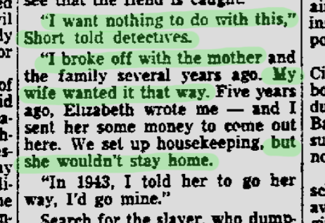 CLEO SHORT  SHOWED NO LOVE FOR HIS DAUGHTER, AND LIED ABOUT THE CIRCUMSTANCES OF HIS BREAK FROM THE FAMILY...